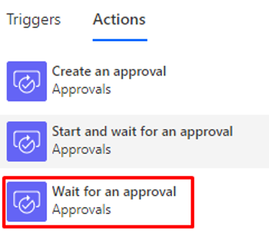 Wait for Approval